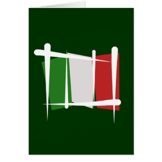 Cartes Drapeau de brosse de l'Italie