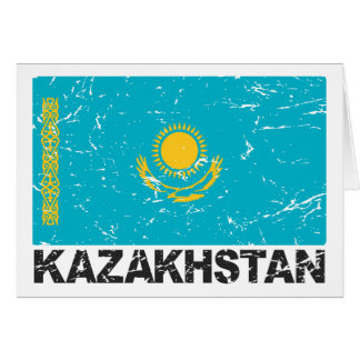 Cartes Drapeau de cru de Kazakhstan