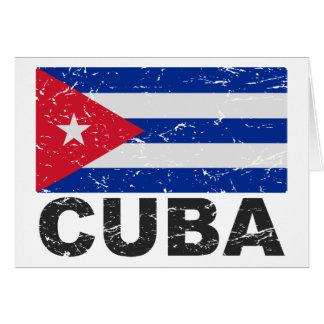 Cartes Drapeau de cru du Cuba