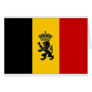 Cartes Drapeau de drapeau de gouvernement de la Belgique