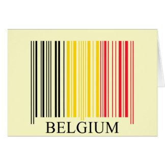 Cartes Drapeau de la Belgique de code barres
