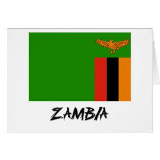 Cartes Drapeau de la Zambie