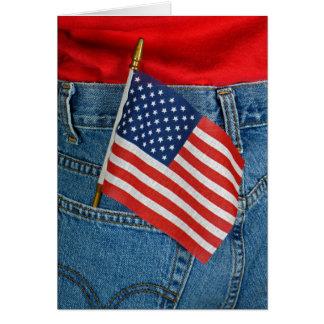 Cartes Drapeau de l'Amérique dans la poche