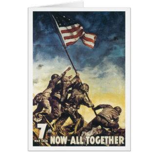 Cartes Drapeau d'Iwo Jima soulevant le cru de graphique