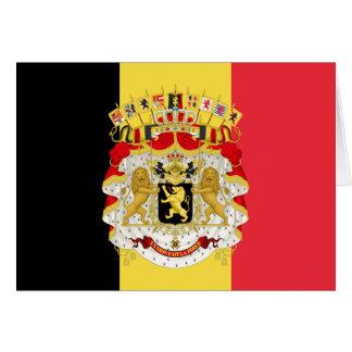 Cartes Drapeau du rouge jaune noir de la Belgique