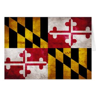 Cartes Drapeau patiné du Maryland