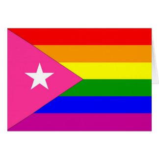 Cartes Drapeau portoricain de gay pride