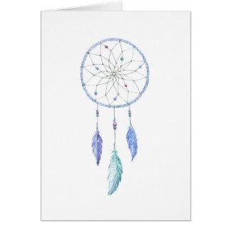 Cartes Dreamcatcher pour aquarelle avec 3 plumes
