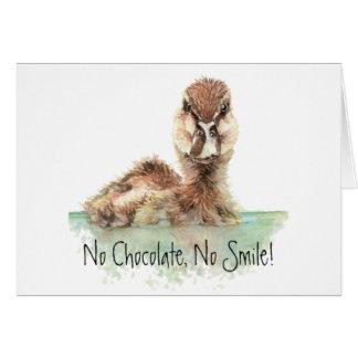 Cartes Drôle, aucun chocolat, aucun sourire, canard