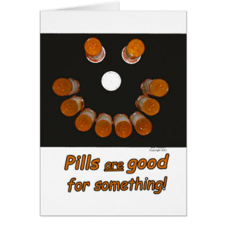 Cartes Drôle obtenez les pilules bonnes font les visages