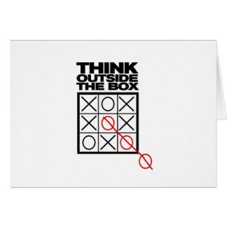 Cartes Drôle pensez en dehors de la boîte