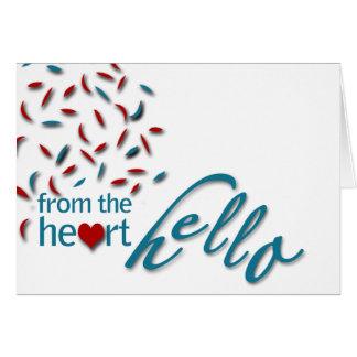 Cartes Du coeur bonjour