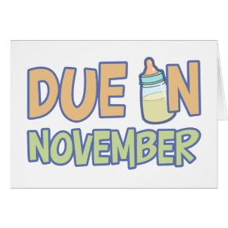 Cartes Dû en novembre