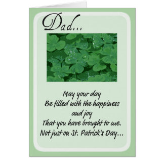 Cartes du jour de St Patrick pour le papa