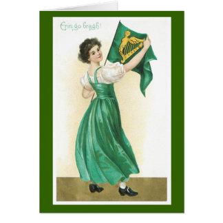 Cartes du jour de vieux St Patrick de mode