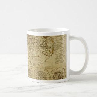 Cartes du monde de Hictoric - cartes de Vieux Mond Tasses À Café