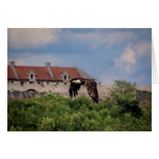 Cartes Eagle chauve passant le fort Ticonderoga