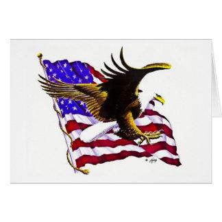 Cartes Eagle et drapeau