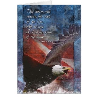 Cartes Eagle patriotique en vol