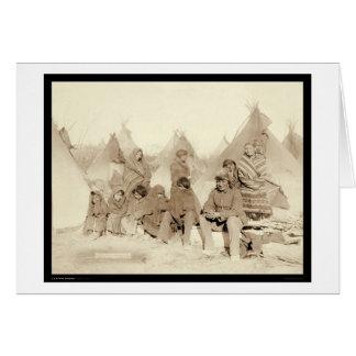 Cartes Écart-type indien 1891 de camp de Miniconjou de