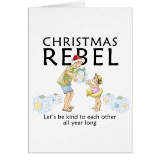 Cartes Écartez l'esprit de rebelle de Noël !