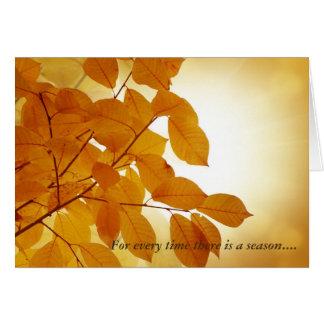Cartes Ecclesiastes consolation de 3 saisons