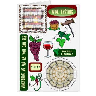 Cartes Échantillon de vin