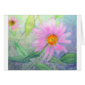 Cartes Echinacée en fleur