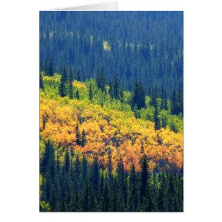Cartes Éclaboussure de couleur d'automne