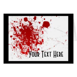 Cartes Éclaboussure de sang