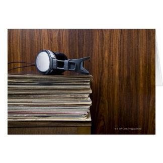 Cartes Écouteurs sur des disques