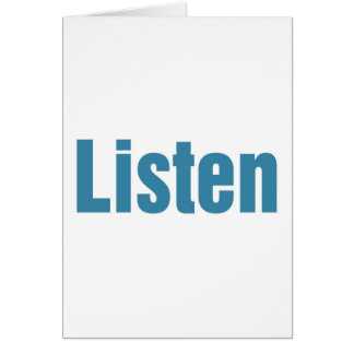 Cartes Écoutez
