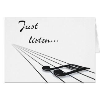 Cartes Écoutez juste