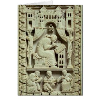 Cartes Écriture de St Gregory avec des scribes ci-dessous