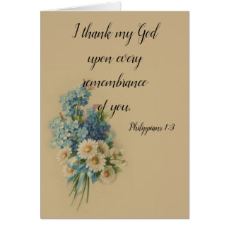 Cartes Écriture sainte florale personnalisable