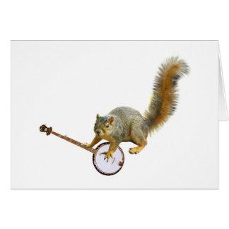 Cartes Écureuil avec le banjo