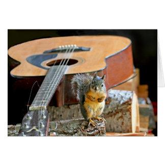 Cartes Écureuil et guitare