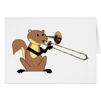Cartes Écureuil jouant le trombone