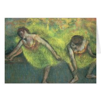 Cartes Edgar Degas | détente de deux danseurs