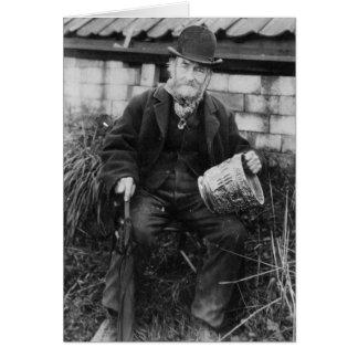 Cartes Edouard Bingham tenant un de son château