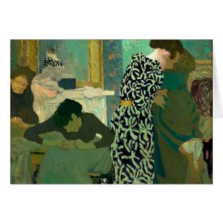Cartes Edouard Vuillard- la robe fleurie