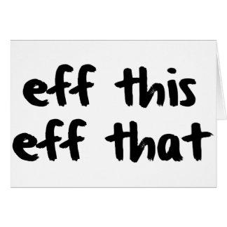 Cartes EFF cet EFF cette vie de merde de YOLO de la vie