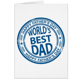 Cartes Effet de tampon en caoutchouc de fête des pères