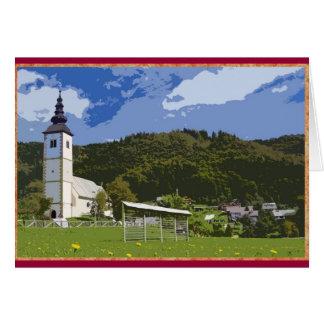 Cartes Église et ville de Jereka, Slovénie