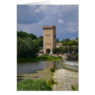 Cartes Église sur la rivière de l'Arno