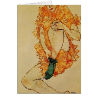 Cartes Egon Schiele- le bas vert