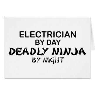 Cartes Électricien Ninja mortel par nuit