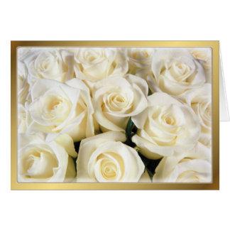 Cartes Élégance de rose blanc