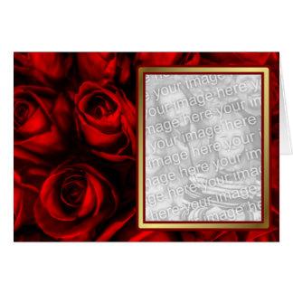Cartes Élégance de rose rouge - modèle