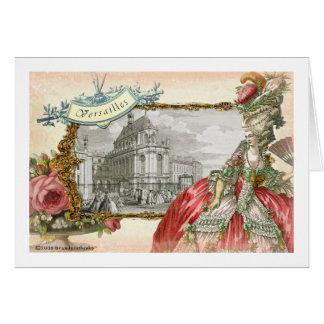 Cartes Élégance de Versailles Marie Antoinette